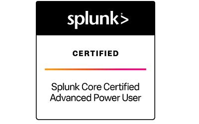 Splunk Core Certified Advanced Power User